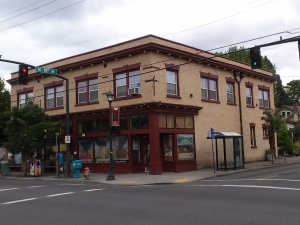 An exotic and complicated rectangular building on Alberta Street NE Portland, OR