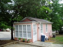 Studio Cottage created from a one car garage in the Cotton District.