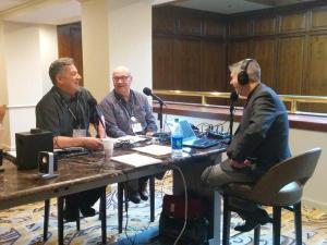 Monte Anderson and me with Chuck Marohn at CNU23 in Dallas.