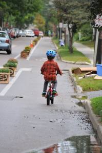 A demonstration project showing how great a buffered bike lane can be. Photo by Mike Lydon