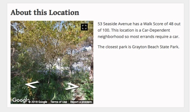 seaside walkscore is 48